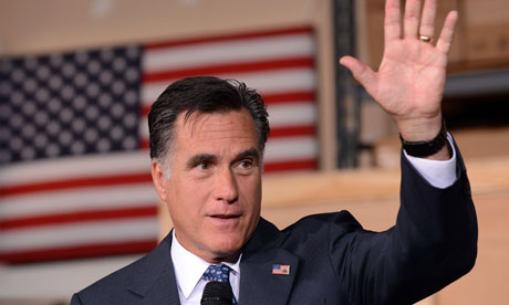 Mitt Romney at a campaign event in Chantilly, Virginia