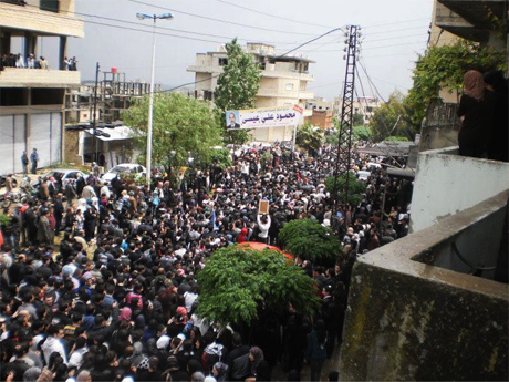 Funeral of Ismail Haidar in Syria