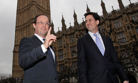 François Hollande with Ed Miliband in February