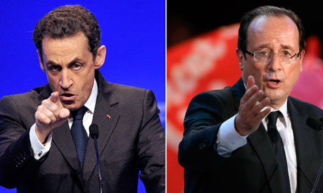 Nicolas Sarkozy and François Hollande