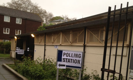 A polling station in Denmark Hill, south London, on 3 May 2012.