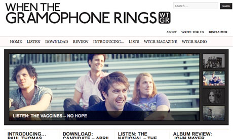 When the Gramophone Rings music blog