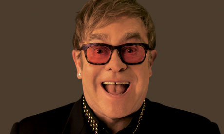 Elton John shoot, portrait