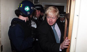 Boris Johnson police raids
