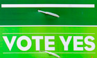 Yes vote poster