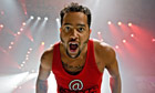 Sky Blu of LMFAO performs in Illinois, US on 26 May