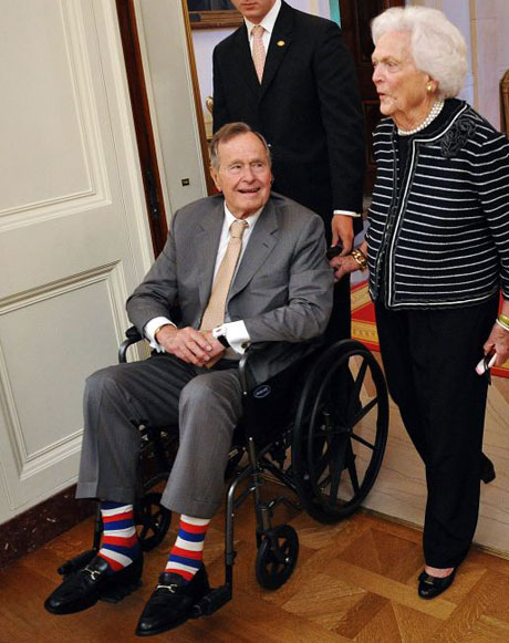Former president George HW Bush