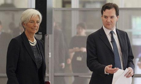 George Osborne with Christine Lagarde last week