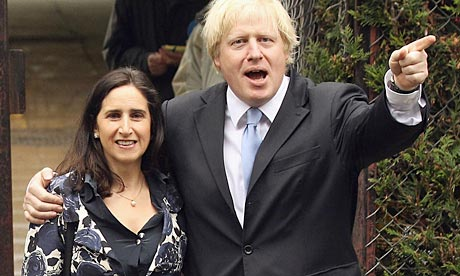 Boris Johnson with his wife
