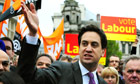 Ed Miliband in Birmingham during local elections