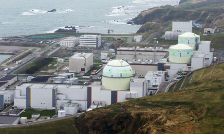 Operators have begun to shut down the third nuclear reactor (centre in foreground) at the Tomari plant in Japan.