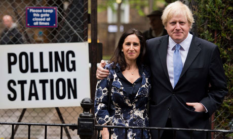 London Mayor Boris Johnson and his wife Marina Wheeler