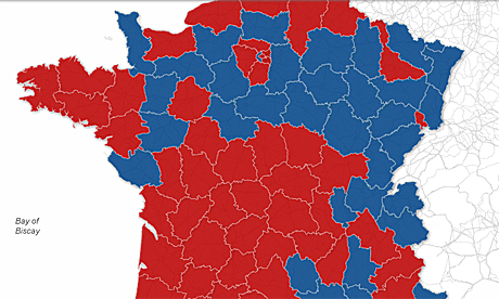 France interactive map