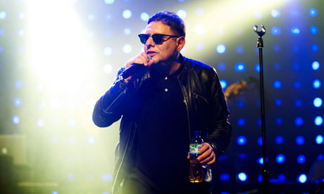 Shaun Ryder of Happy Mondays on stage at the O2 Academy in Sheffield