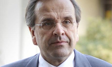 Zo reageert de Griekse premier Antonis Samaras op het uitblijven van een akkoord over nieuwe noodhulp aan zijn land. - Antonis-Samaras-greek-007