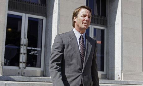 John Edwards leaves court
