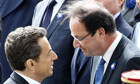 Nicolas Sarkozy and Francois Hollande