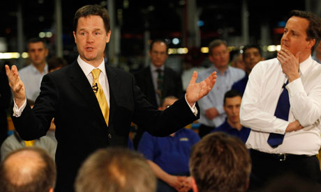 Nick Clegg and David Cameron in Essex