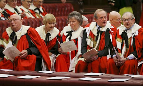 Members of the House of Lords awaiting the start of the Queen's speech