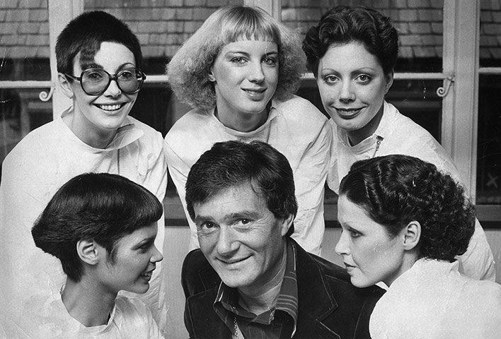 Vidal Sassoon: Vidal Sassoon with models