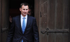British culture secretary Jeremy Hunt