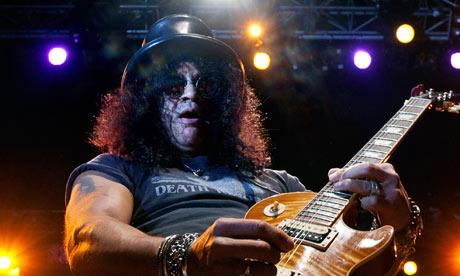 British-born US guitarist Slash performs