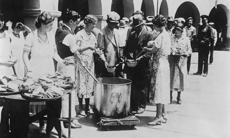 A breadline in the US in 1930