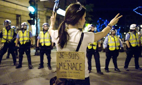 Student protests Quebec
