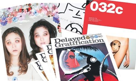 Clockwise: Vice; Think Quarterly; 032C; Delayed Gratification.