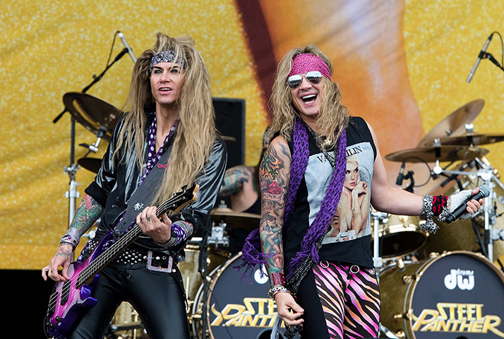 Download Festival: Michael Starr and Lexxi Foxxx of Steel Panther