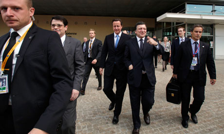 David Cameron, Jose Manuel Barroso