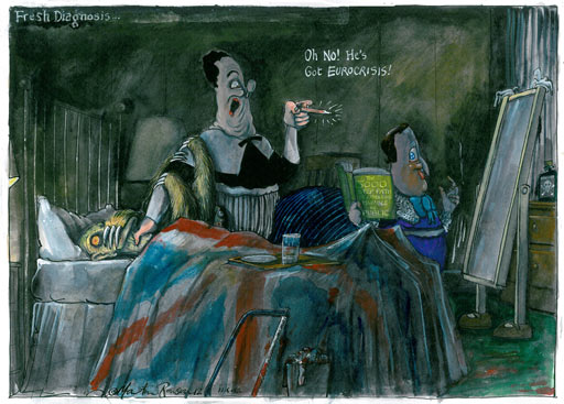 11.06.12: Martin Rowson on George Osborne's comments about the UK economy and the eurozone crisis
