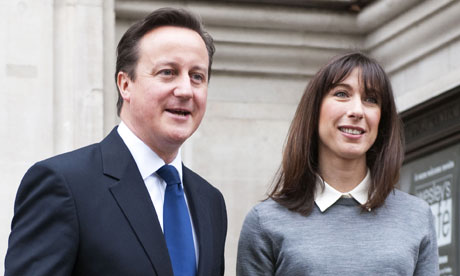 David Cameron and his wife Samantha were said to be distraught when they realised Nancy wasnt with them.