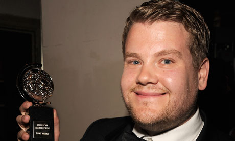 James Corden with his best actor Tony award