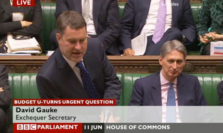 David Gauke, a Treasury minister, responding to an urgent question on budget U-turns.