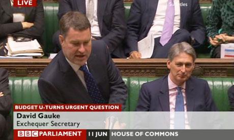 David Gauke, a Treasury minister, responding to an urgent question on budget U-turns.