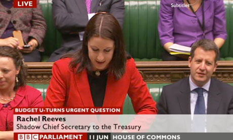 Rachel Reeves, shadow chief secretary to the Treasury.