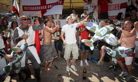 Euro 2012: England fans before their first match v France
