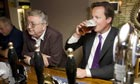 PM David Cameron enjoying a pint at a pub in his Witney constituency, Oxfordshire, 2009