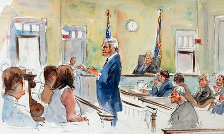 Jerry Sandusky trial courtroom sketch