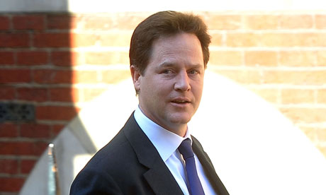 Nick Clegg arrives at the Leveson Inquiry at the high court