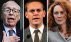 Rupert Murdoch, James Murdoch, Rebekah Brooks