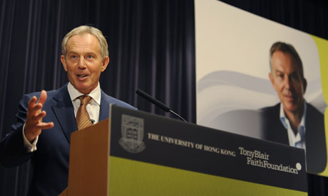 Tony Blair in Hong Kong