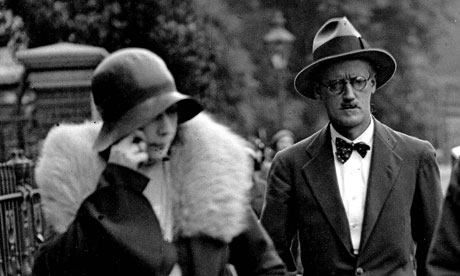 James Joyce and Nora Barnacle on the day of their marriage in 1931