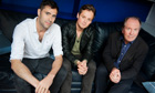 Tim Rice-Oxley and Tom Chaplin with William Boyd.
