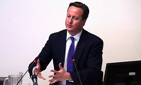 David Cameron came under intense pressure at the Leveson inquiry