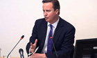 David Cameron giving evidence at the Leveson inquiry