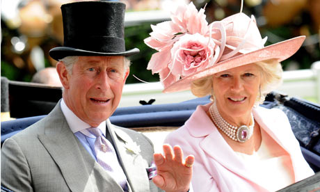 Prince Charles and Camilla, Duchess of Cornwall arrive at Ascot in