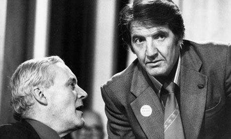 Skinner with Tony Benn at the Labour party conference, 1982.