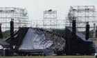 Stage collapses before Radiohead gig